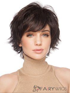 100% Human Hair Sweety Short Wavy Blonde African American Capless Wigs for Women