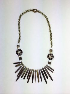 Sea urchin spike statement necklace with by ThoughtOutTwinkles