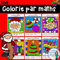 Colorie par maths.  Your French students will love practicing their math skills with this fund set of color by number pages in French!  Practice addition, subtraction, shapes, subitizing and more!