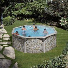 Piscina elevada de 730x375x132cm pertenece a la serie - Lucia la piedra piscina ...