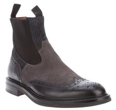 Brogue-Style Chelsea Boots by Botti.