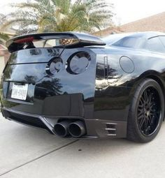 'Rear of the year' Blacked Out Nissan GTR!  More like this @eBay #GTR #spon