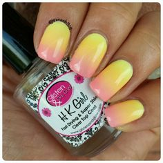 gradient using all @Maybelline Bleached Neons & my favorite @glistenandglow1 HKgirl.