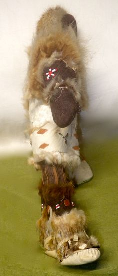 Vintage Inuit Eskimo Doll with fur beads etc. Very by MANITOUARTS