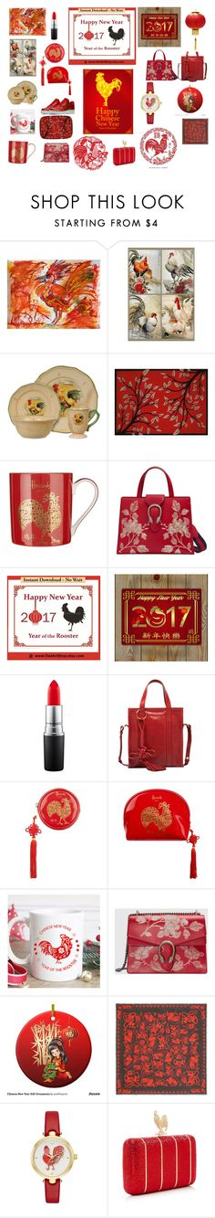 """""""Happy Chinese New Year"""" by marciabackermendes ❤ liked on Polyvore featuring Marc, United Weavers of America, Harrods, Gucci, MAC Cosmetics, Balenciaga, Alexander McQueen, NIKE and Kate Spade"""