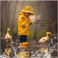 "Take time to do what makes your soul happy"" 🕊️💖 ✨ Funny Kids, Cute Kids, Cute Babies, Animals For Kids, Baby Animals, Cute Animals, Special Quotes, Beautiful Children, Rainy Days"