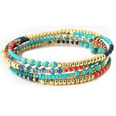 Turquoise Beaded Wrap Bracelet from HandPicked - $15