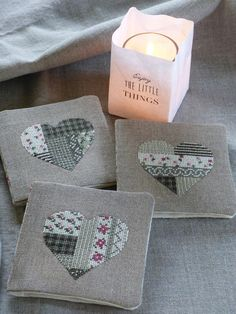 Coeurs d'Hiver Sashiko Embroidery, Cross Stitch Embroidery, Cross Stitch Patterns, Nifty Crafts, Crafts To Make, Art Du Fil, Lavender Bags, Cross Stitch Finishing, Cross Stitch Pictures