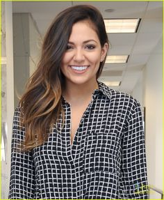 Bethany Mota stops by the Sirius XM Studios with a big smile in New York City on Wednesday afternoon (February 11).