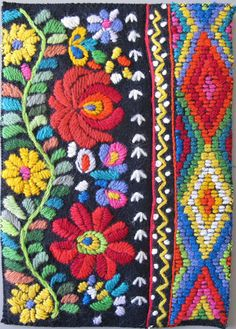 "Today is the first ""Inspired By"" post of many more to come, and today I am writing about Mexican flower embroidery patterns. I come across so many things that inspire me, many in the most unexpected of places. It could be the colors in a piece of graffiti on the wall, a clothing display [...]"