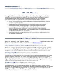 sample resume cfo resume cv cover letter