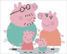Peppa Pig is usually a British isles preschool cartoon tv set line directed as well Cross Stitching, Cross Stitch Embroidery, Cross Stitch Patterns, Peppa Pig Images, C2c Crochet Blanket, Peppa Pig Family, Jumper Knitting Pattern, Cross Stitch Collection, Baby Doll Clothes