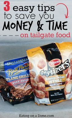 Here are 3 tips to Save Money and Time on Tailgate food!   Throw a great party on a budget. #ad
