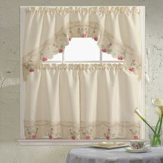 """Found it at Wayfair - Embroidered 60"""" Valance and Tier Set"""
