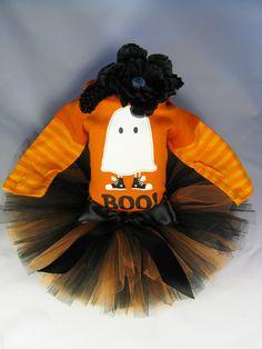 Boo! Halloween tutu set