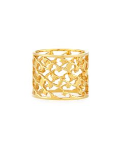 Perforated+Serif-T+Band+Ring+by+Tory+Burch+at+Neiman+Marcus.