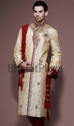 Ethnic Look Raw Silk Sherwani