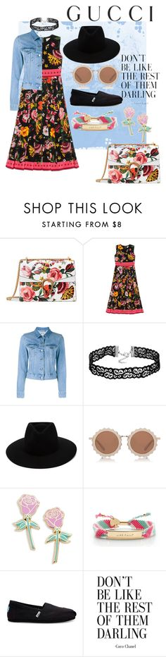 """Presenting the Gucci Garden Exclusive Collection: Contest Entry"" by turiyaisme ❤ liked on Polyvore featuring Gucci, Acne Studios, rag & bone, House of Holland, Big Bud Press, Kate Spade, TOMS and gucci"