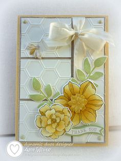 Stampin' Up! Card  by Amy White at White House Stamping: Saffron Secret Garden...