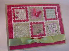 Stampin Up Card Gallery 2012 | Stampin Up Vintage Spring Quilt Handmade Card | eBay