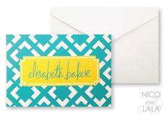 preppy print notecard set by Nico and LaLa | Nico and Lala