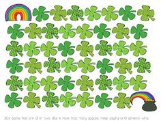 Kreative in Kinder: St. Patrick's Day Dice Game FREEBIE!