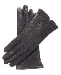 Medium Mens Leather Motorcycle Winter Gloves w// Rain Cover Zippered Gauntlet UM-101