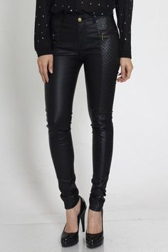 Obsessed with these faux leather pants with quilted detail. This is a must have.