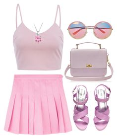 """PINK"" by matea0605 ❤ liked on Polyvore featuring H&M, AX Paris, J.Crew, Chicnova Fashion and Bling Jewelry"