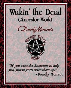 Dorothy Morrison's Wicked Witch Mojo Wakin' The Dead Candle
