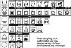 Fabric Label Symbols - Bing Images