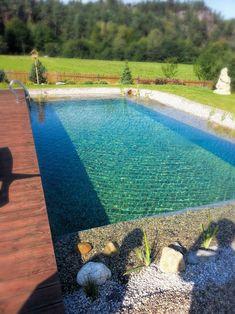 Koupací jezírko | Stavba jezírek Small Pool Design, Natural Swimming Pools, Pool Designs, Land Scape, Pergola, Garden Ideas, Hacks, Outdoor Decor, Nature