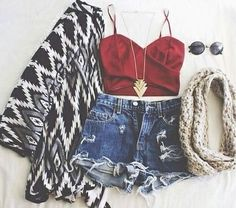 Hipster.. summer nights type of outfit