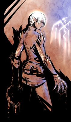 Everyone's favorite Tevinter Slave. Dragon Age 2. ~Fenris by Esk-Phantom on deviantart