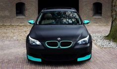 Matte black bmw w. tiffany blue