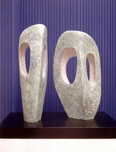 ^Barbara Hepworth Two Forms in Echelon, Bronze, 1961 Abstract Sculpture, Wood Sculpture, Bronze Sculpture, Abstract Art, Metal Sculptures, Sculpture Rodin, Barbara Hepworth, Action Painting, Stone Carving