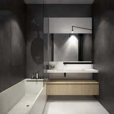 Bathroom Vanity Mirrors and Single  Bathtub Shower for Small Bathroom