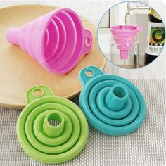 """Universe of goods - Buy """"Protable Mini Silicone Foldable Funnels Collapsible Style Funnel Hopper Kitchen Cozinha Cooking Tools Accessories Gadgets"""" for only USD. Kitchen Tools And Gadgets, Cooking Gadgets, Cooking Tools, Top Gadgets, Mens Gadgets, Farmhouse Style Kitchen, Modern Farmhouse Kitchens, Kitchen Styling, Kitchen Decor"""