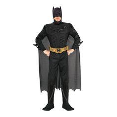 DISFRAZ DE BATMAN NEGRO - RUBIES COSTUMES REF: 880671 - Incluye traje con músculos y cubre-zapatos, mascara, capa y cinturón. PRECIO COLOMBIA: 155.000