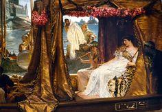 Decidido a organizar todo el Oriente, Marco Antonio convocó a Cleopatra a una entrevista en Tarso, al sur de Turquía. En vez de presentarse como una súbdita, la reina de Egipto supo conquistar al romano con su belleza y su fabuloso fasto.
