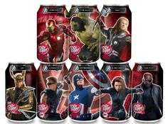New Collectible The Avengers Cans for Dr. Pepper