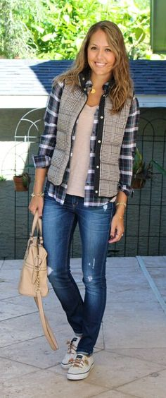 Cute outfit minus the puffer vest - not my thing