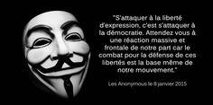 Les Anonymous promettent de venger #CharlieHebdo