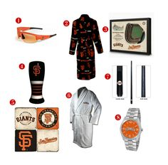 8 Great Father's Day Gift ideas for the avid San Francisco Giants Fan! See all of our Giants gifts at http://www.topnotchgiftshop.com/san-francisco-giants.html