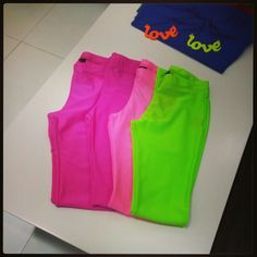 Neon leggings. Only these pieces available. 45 Dhs.   SALE STARTS TODAY! Celebrate the #UAEnationalDay with us and take 42% OFF of everything! Some items are still on 70% off. Happy holidays :)  #fashion #makeup #dress #hot #clothes #clothing #fashionable #instafashion #swag #swagger #model #style #musthave #weheartit #girly #classy #fashiondiaries #pants #ootd #highheels #shoes #clubsocial #accessories #loveit #bikini #clothes #instacute #want #heels #photoshoot #weheartit #necklace #colors…