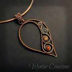 Past Wire Work Projects: Necklaces and Pendants | WynterCreations