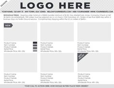 wholesale line sheet template free download - Selo.l-ink.co