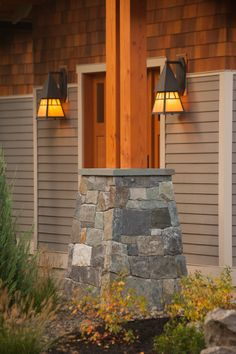 Design is in the details, natural stone and timber entryway. Louden Ridge, Saratoga Springs, NY