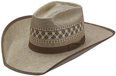American Hat Co 15X Two Tone Vented Moss Shantung Straw Hat