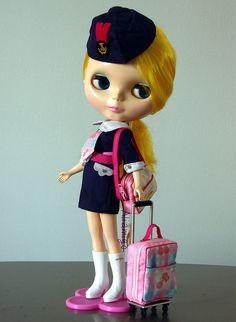Blythe doll: Feel the Sky  by Tartadefresa, via Flickr